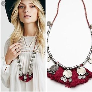Free people Turkish delight fringe coin necklace